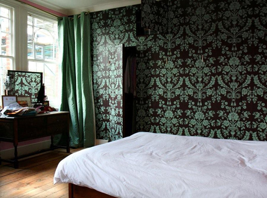 Wallpapered Fitted Wardrobes London